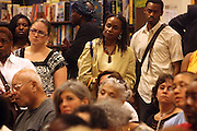 "Audience at the reading of ' Letters from Black America "" A Dramatic Reading with Editor Pamela Newkirk and actors Ruby Dee and Anthony Chisholm held at Barnes & Noble at 82nd Street on July 15, 2009 in New York City"