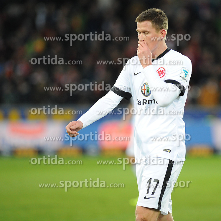 31.01.2015, Schwarzwald Stadion, Freiburg, GER, 1. FBL, SC Freiburg vs Eintracht Frankfurt, 18. Runde, im Bild Alexander Madlung (Eintracht Frankfurt) enttaeuscht, frustriert // during the German Bundesliga 18th round match between SC Freiburg and Eintracht Frankfurt at the Schwarzwald Stadion in Freiburg, Germany on 2015/01/31. EXPA Pictures &copy; 2015, PhotoCredit: EXPA/ Eibner-Pressefoto/ Laegler<br /> <br /> *****ATTENTION - OUT of GER*****