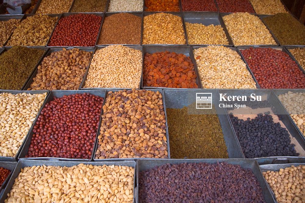 Selling dried fruit at Sunday Market, Kashgar, Xinjiang, Silk Road, China