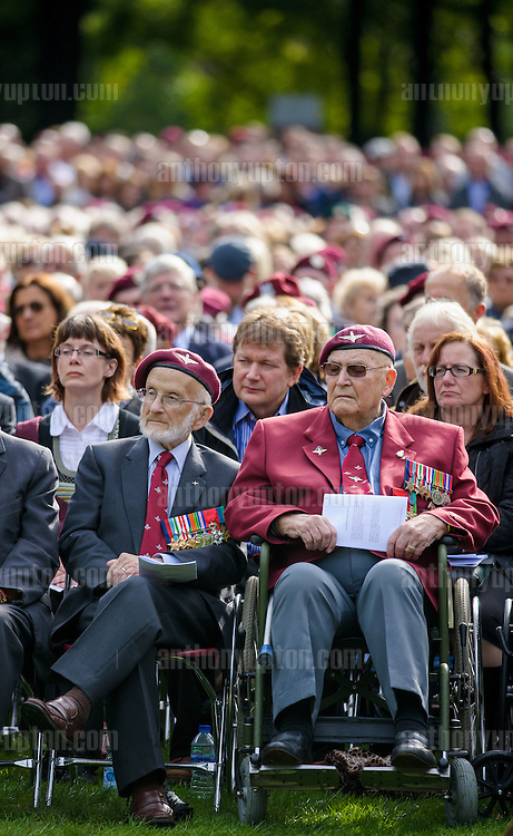 20140921       Copyright image 2014&copy;<br />  ,Daily Telegraph,  Daily Telegraph,<br /> Parachute Regiment Veterans at Oosterbeek Cemetery  Military  as part of the Arnhem 70th Anniversary Celebrations<br /> <br /> For photographic enquiries please call Anthony Upton 07973 830 517 or email info@anthonyupton.com <br /> This image is copyright Anthony Upton 2014&copy;.<br /> This image has been supplied by Anthony Upton and must be credited Anthony Upton. The author is asserting his full Moral rights in relation to the publication of this image. All rights reserved. Rights for onward transmission of any image or file is not granted or implied. Changing or deleting Copyright information is illegal as specified in the Copyright, Design and Patents Act 1988. If you are in any way unsure of your right to publish this image please contact Anthony Upton on +44(0)7973 830 517 or email: