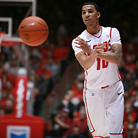 18 January 2012:  New Mexico Lobo's Kendall Williams passes off the ball. San Diego State Aztecs defeated the New Mexico Lobos Lobos 75 - 70 at The Pit in Albuquerque, NM.
