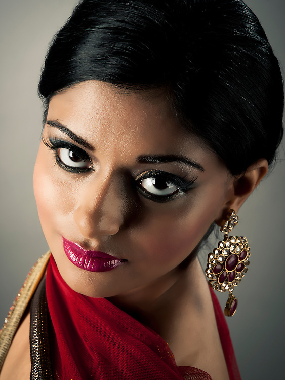 Model: Amisha Sampat.Hair & Makeup: Makeup Royale.Designer: Carma Collections..Photography by Lloyd Barnes