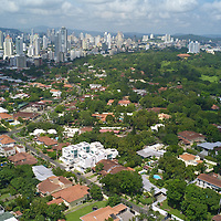 """Foreign investors fuel Panama construction boom: Panama City is a hotbead for construction activity.Pictured: Once a private golf course, """"Altos de Golf,"""" and swanky hang out for the Panama elite, Parque Omar was converted and given to the public by General Omar Torrijos."""