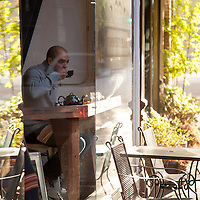 Community Plate. Barrista is Sam Clemens. For 72 Hours in McMinnville for 1859 Magazine. Photo © Tim LaBarge 2013