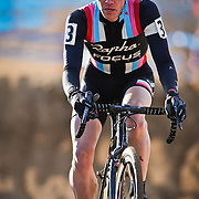 SHOT 1/12/14 4:02:29 PM - Jeremy Powers (#3) of Easthampton, Ma. competes in the Men's Elite race at the 2014 USA Cycling Cyclo-Cross National Championships at Valmont Bike Park in Boulder, Co. Powers won the event with a time of 59:16.  (Photo by Marc Piscotty / © 2014)