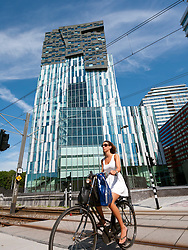 New office tower designed by Erick van Egeraat architects part of new property development called Mahler4 at Amsterdam South Netherlands
