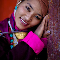 A beautiful Ladakhi woman.