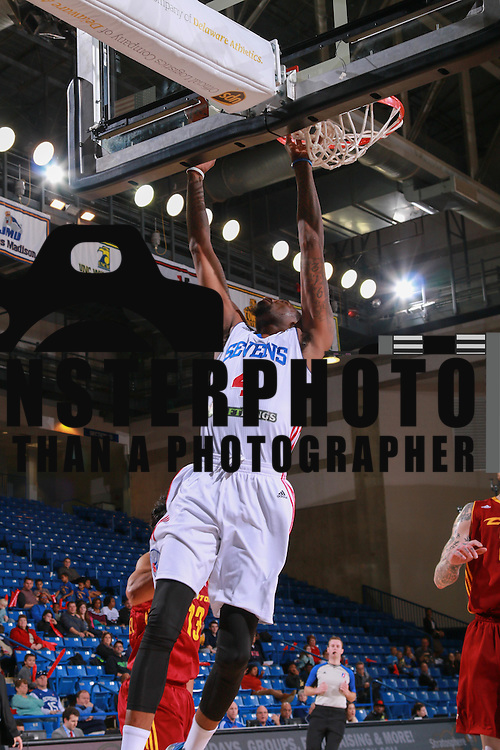 Delaware 87ers Guard JORDAN MCRAE (4) drives to the basket in the second half of a NBA D-league regular season basketball game between the Delaware 87ers and the Canton Charge Tuesday, JAN, 26, 2016 at The Bob Carpenter Sports Convocation Center in Newark, DEL.<br /> <br /> Delaware 87ers guard Jordan McRae broke the NBA minor league&rsquo;s single-game scoring record going 21-34 finishing with 61 points in a 130-123 overtime win over the Canton Charge.