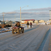 Four-wheel ATV's are a common means of getting around town.<br /> <br /> (Ian Stewart photo)