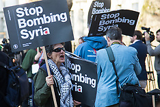 2017-04-07 London protest condemns US strikes against Syria