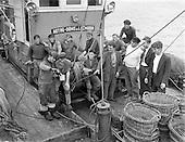 1958  - Loading a French Trawler,  Ringsend, Dublin