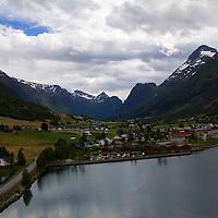 Europe, Norway, Olden. Olden Cruise Port.