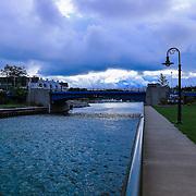 &quot;Charlevoix Drawbridge&quot;<br /> <br /> Follow the walkway to the drawbridge in Charlevoix Michigan.