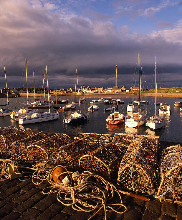 Evening light Elie harbour, East Neuk, Fife.