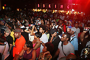 Audience at The 2008 Black August Benefit Concert held at BB Kings on August 31, 2008..2008 begins the second decade of Black August Hip Hop Project benefit concerts which assist and support Political Prisoners. The Malcolm X Grassroots Movement is an organization whose mission is to defend the human rights of people and promote self-determination in our community.