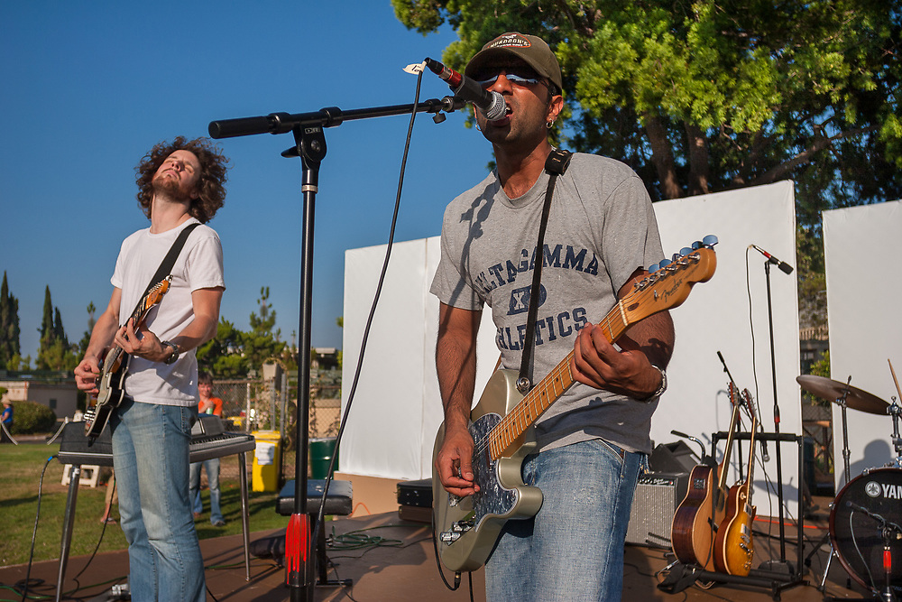 Hollywood, California: Aditya Rao sings lead for The Throws, a Los Angeles-based rock band.