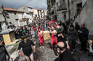 The procession in the streets of Nocera Terinese