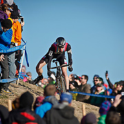SHOT 1/12/14 3:46:01 PM - Jeremy Powers (#3) of Easthampton, Ma. competes in the Men's Elite race at the 2014 USA Cycling Cyclo-Cross National Championships at Valmont Bike Park in Boulder, Co. Powers won the event with a time of 59:16.  (Photo by Marc Piscotty / © 2014)