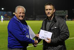 50/50 Draw winner - Mandatory byline: Dougie Allward/JMP - 07966 386802 - 06/10/2015 - FOOTBALL - Memorial Stadium - Bristol, England - Bristol Rovers v Wycombe Wanderers - JPT Trophy