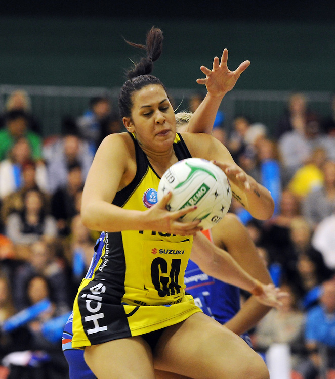 Pulse's Paula Griffin against the Mystics in the ANZ Championship netball, Arena Manawatu, Palmerston North, New Zealand, Sunday, May 18, 2014. Credit:SNPA / Ross Setford