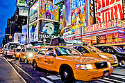 Traffic in front of the Palace Theater on 7th avenue in Times Square, Manhattan, New York, 2009.