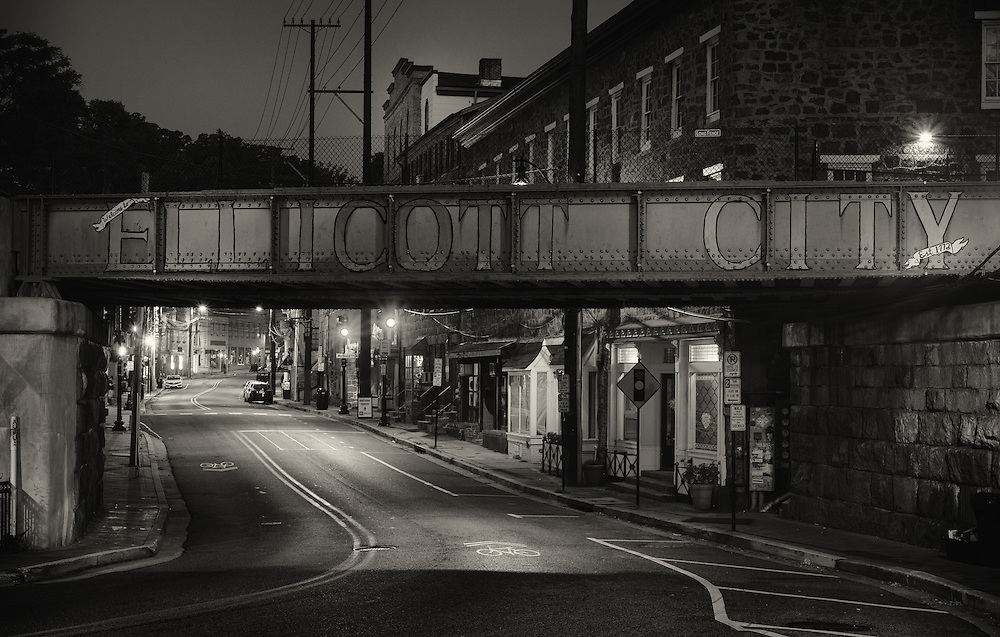 Ellicott City, Maryland train bridge.
