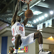 Delaware 87ers Forward Thanasis Antetokounmpo (19) dunks the ball in the second half of an NBA D-league regular season basketball game between the Delaware 87ers (76ers) and the Maine Red Claws (Boston Celtics) Tuesday, Feb. 4, 2014 at The Bob Carpenter Sports Convocation Center, Newark, DE