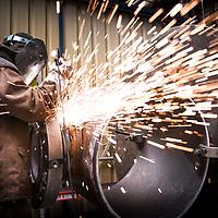 Nivelles, Belgium 30 April 2014<br /> TD Williamson welding workshop.<br /> Photo: Ezequiel Scagnetti