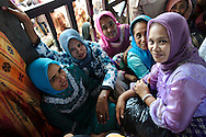Visitors at the Maulid Nabi festival, Cikoang, Sulawesi, Indonesia.