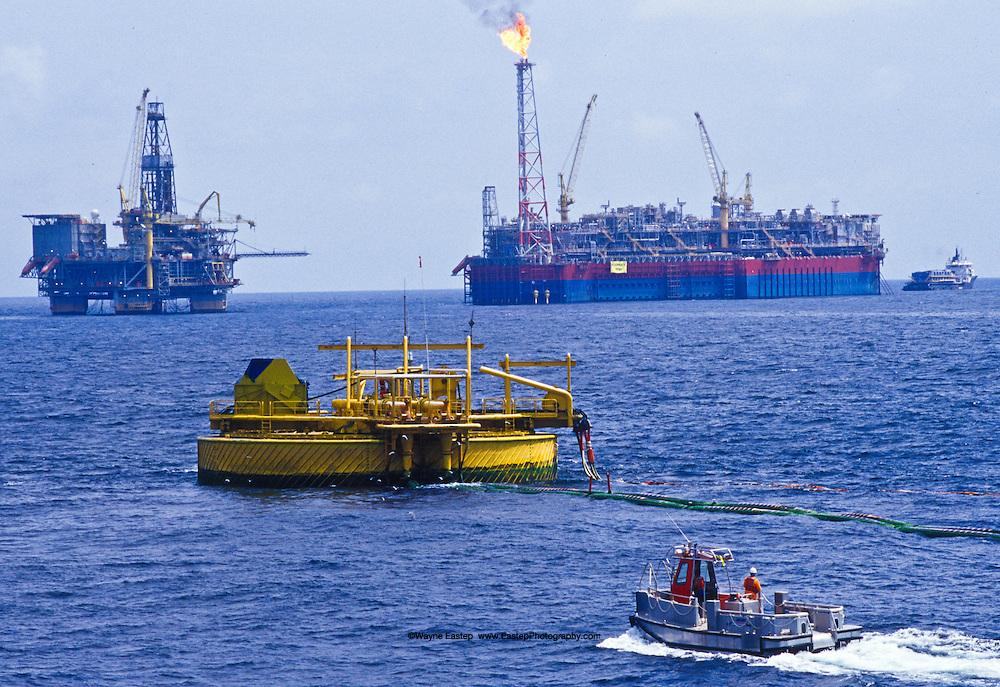 FPSO, TLP & Tanker mooring at SPM bouy, Kizomba-A, Angola.
