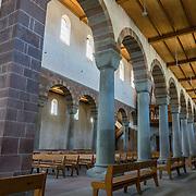 The cathedral of Münster Allerheiligen (All Saints Church) was built in Romanesque style in 1103, the oldest building in Schaffhausen. Kloster Allerheiligen (All Saints Abbey) is a former Benedictine monastery in Schaffhausen, Switzerland, Europe.