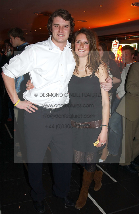 CHARLES BEAMISH and his sister LEO BEAMISH at a night of Cuban Cocktails and Cabaret hosted by Edward Taylor and Charles Beamish at Floridita, 100 Wardour Street, London W1 on 14th April 2005.<br /><br />NON EXCLUSIVE - WORLD RIGHTS