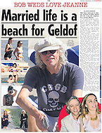 Married life is a beach for Geldof