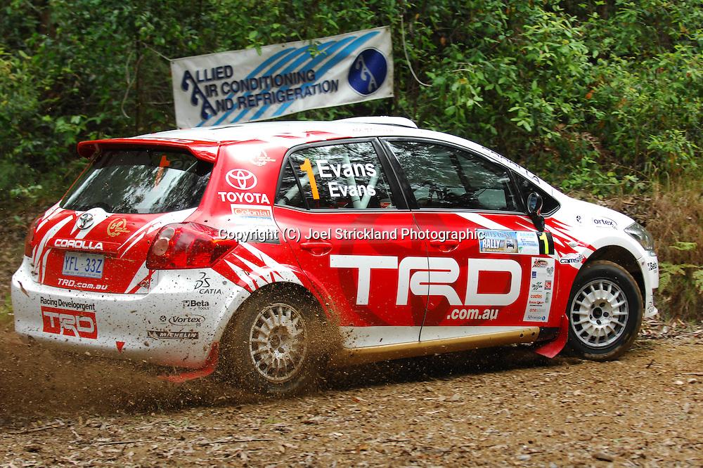 Simon & Sue Evans.Motorsport-Rally/2008 Coffs Coast Rally.Shakedown, Bucca Rd, .Coffs Harbour, NSW.14th of November 2008.(C) Joel Strickland Photographics