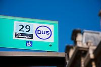 Bus stop for 29 Porte de montempoivre Paris France in May 2008