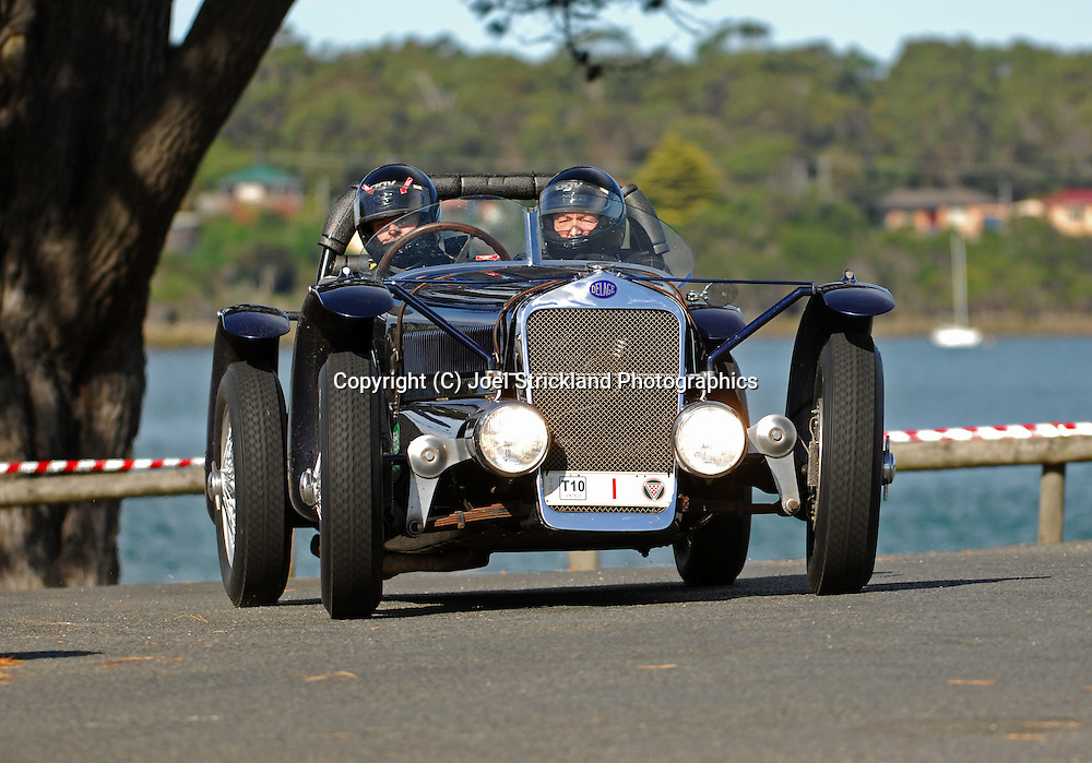 #1 - John Lawson & Paul Lawson - 1936 Delage D6 70 Le Mans.Prologue.George Town.Targa Tasmania 2010.27th of April 2010.(C) Joel Strickland Photographics.Use information: This image is intended for Editorial use only (e.g. news or commentary, print or electronic). Any commercial or promotional use requires additional clearance.