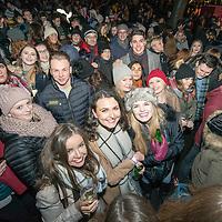 Revellers gather in Edinburgh's Princess Street gardens for Hogmanay celebrations on Dec 31st, 2016 in Edinburgh, Scotland. (Photo by Ross Gilmore)