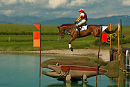 Eventing (equestrian triathlon), Cross Country competition, The Event at Rebecca Farms,  Kalispell, Montana, Valerie Ferraro, Thoroughbred