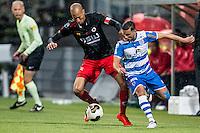 ROTTERDAM - Excelsior - PEC Zwolle , Voetbal , Eredivisie , Seizoen 2016/2017 , Stadion Woudestein , 21-10-2016 , Excelsior speler Ryan Koolwijk (l) in duel met PEC Zwolle speler Mustafa Saymak (r)