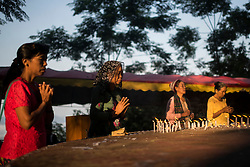 Laiza 20160914<br /> People praying for peace at a christian festival in Laiza, Kachin State, Myanmar.<br /> Photo: Vilhelm Stokstad / Kontinent