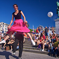 Great Rock and roll from the 1950s also needs some great dance! 'Rockin and a Boppin in the Summer Sun at the Bruxelles Summer festival