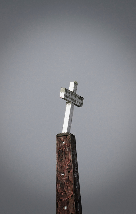 Cross at a marae, New Zealand, Monday, June 11, 2011.  Credit: SNPA / Bethelle McFedries