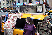 26 October 2010- New York, NY- Hundreds of Zombies take over major cities worldwide including New York City's Penn Station, during a 24-hour period as part of a global invasion staged by AMC in anticipation of the premiere of AMC's new drama series, ' The Walking Dead ' held at Penn Station on October 26, 2010 in New York City. Photo Credit: Terrence Jennings