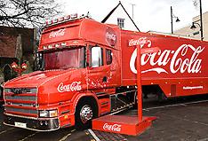 20 DEC 2015 Coca-Cola Truck at Romford Essex