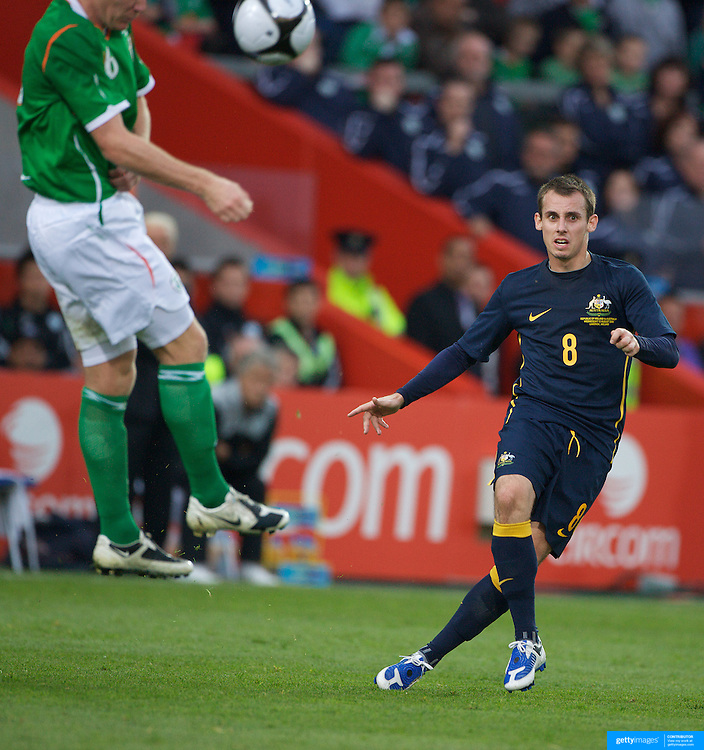 Luke Wilkshire in action during the friendly International between Ireland and Australia at Thomond Park, Limerick, Ireland, Wednesday, August 12, 2009. Photo Tim Clayton.
