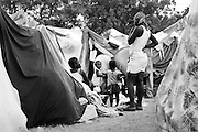 The St. Louis tent city in Port-au-Prince -- water is more widely available here than at other settlements in the city, with a large Doctors Without Borders camp located nearby.