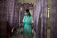 India, Uttar Maharashtra. Nurses at the Satara Civil Hospital burn ward. Alessio Romenzi