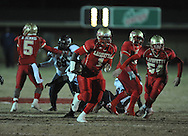 Lafayette High's Jeremy Liggins (1) runs 40 yards for a touchdown vs. Greenwood High in MHSAA playoff action in Oxford, Miss. on Friday, November 11, 2011. Lafayette High won 53-8.