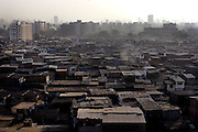 Looking out across part of the Dharavi slum.