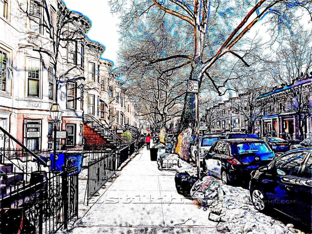 Street of Brooklyn NYC.